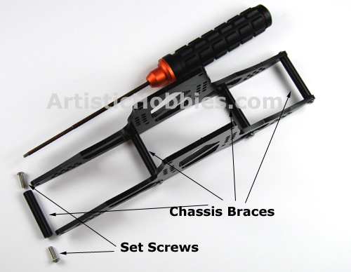 Bolding on braces for rock crawler chassis