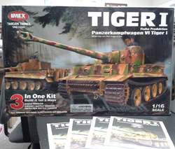 Picture of the box of the new Taigen Tiger I RC kit, picture provided by the Imax Company