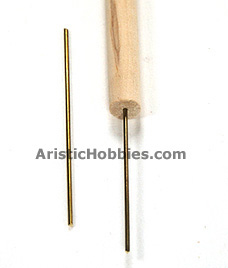 Metel rod in wood pole