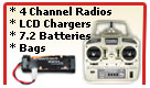 Radio, Charger, Battery and Bags