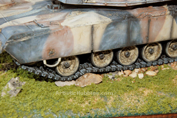 Picture of a model tank in a Diorama