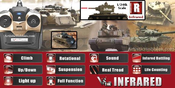 ArtisticHobbies com - VsTank Pro RC Tanks Infrared IR