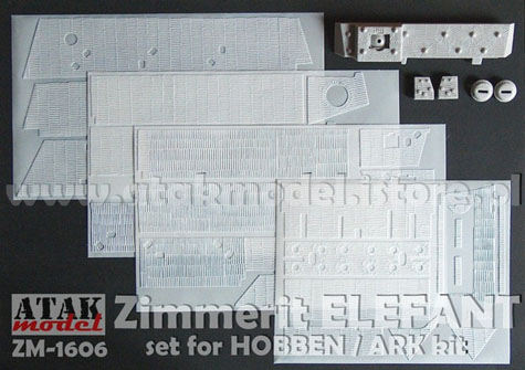 1/16 Zimmerit for Elefant Tank