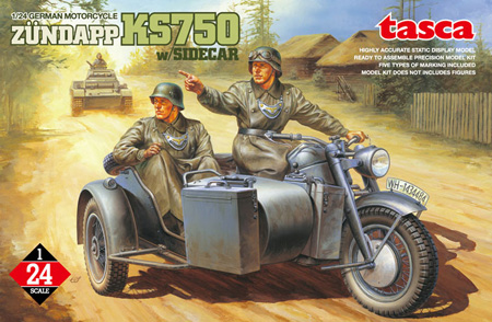 1/24 Zundapp KS 750 Motorcycle with sidecar