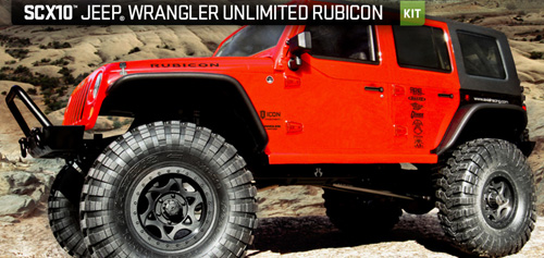 AXIAL SCX10 JEEP WRANGLER UNLIMITED RUBICON 4WD KIT