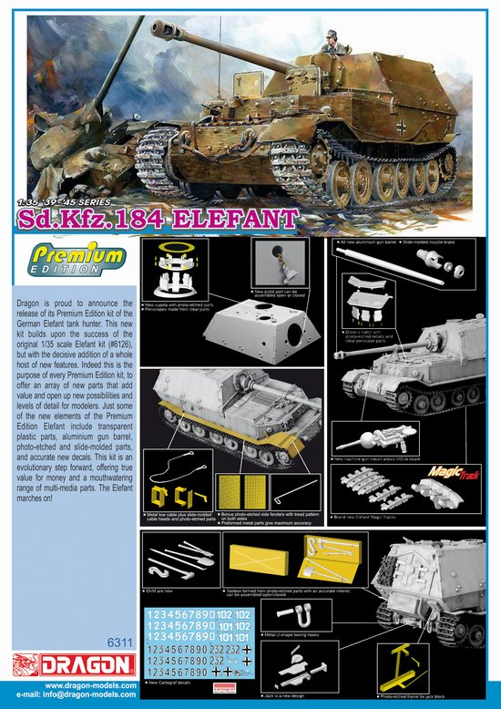 1/35 German Elefant, Sd. Kfz 184 Tank Model