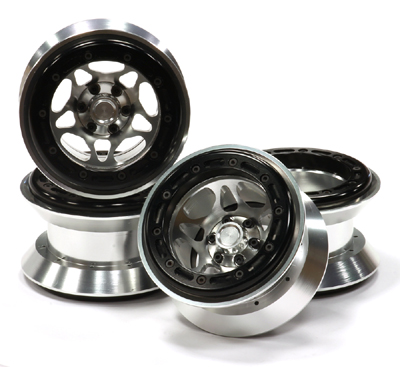 Integy Alloy Type IX 5S 2.2 Beadlock Wheel Set w/ 12mm Hex