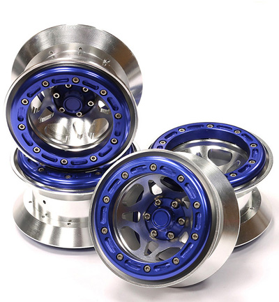 Integy Alloy Type IX 5S 2.2 Beadlock Wheel Set for Rock Crawler