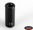 "RC4WD 15mm (0.59"") Internally Threaded Aluminum Link (Black), 1qt"