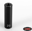 "RC4WD 20mm (0.78"") Internally Threaded Aluminum Link (Black), 1qt"