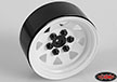 RC4WD 6 Lug Wagon 1.9 Steel Stamped Beadlock Wheels (White)