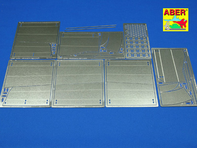 1/16 King Tiger Henschel Side Fender Photo Etch Set
