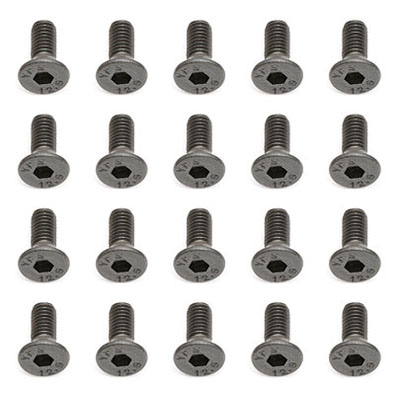 Team Associated M3 x 8mm Flat Head Hex Screws