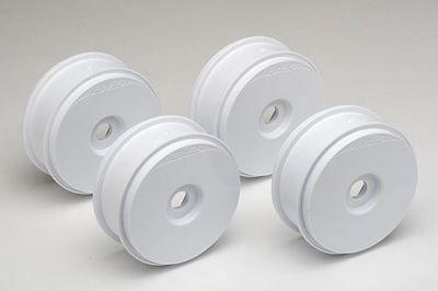 Team Associated 1/8 White 81mm Buggy Wheels