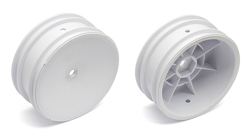Team Associated Front White Buggy Wheels for 1/10 Buggy