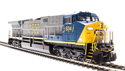 Broadway Limited HO GE AC6000 CSX #653, Blue/Gray/Yellow