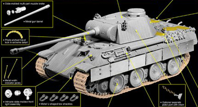 1/35 German Panther Ausf.D Tank Model