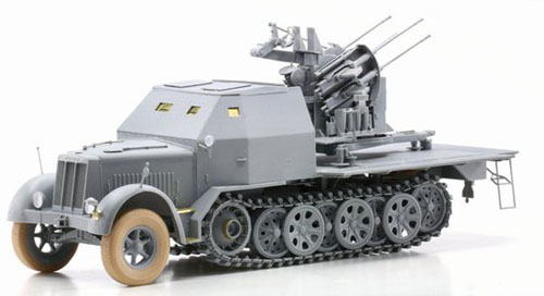 1/35 German Sd. Kfz. 7/1 2cm Flakvierling 38 w/Armor Cab Model
