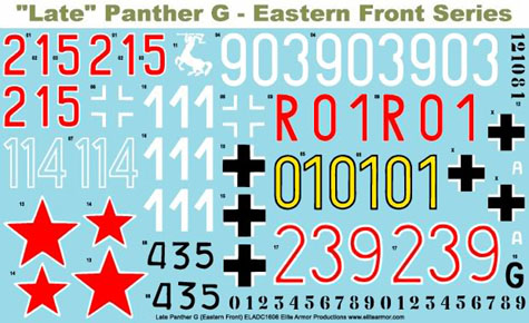 1/16 Decals for German Panther G Tank, Eastern Front