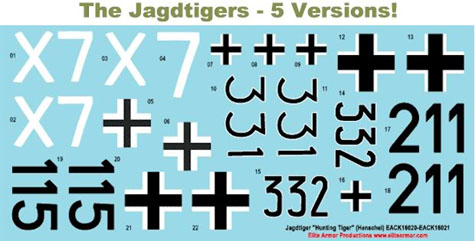 1/16 Decals for German Jagdtiger tank