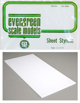 Evergreen - White Styrene Sheets 6x12 .080 thick