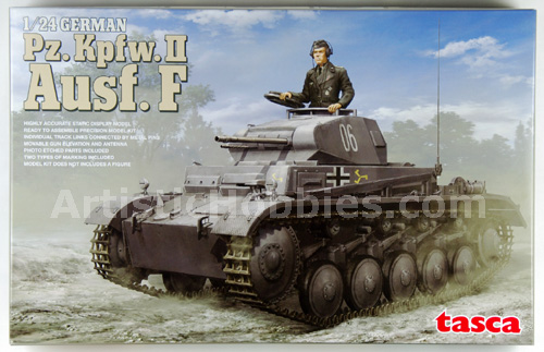 1/24 German Panzer II, Ausf. F. Model Tank kit