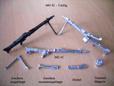 1/16 German Metal MG-42 5 piece set