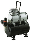Heavy Duty Mini Air Compressor - 1/5 Hp With Tank
