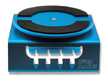 Aluminum Car Stand with Ball Baring Top Turntable, Blue