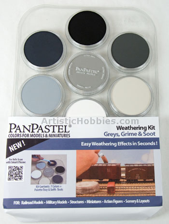PanPastel Model Tank Weathering Set - Greys, Grime & Soot