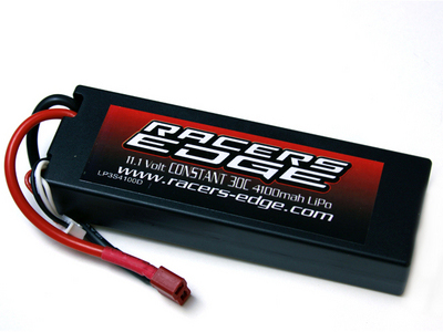 Racers Edge 11.1V 30C 4100 3S Lipo Battery, Deans Plug
