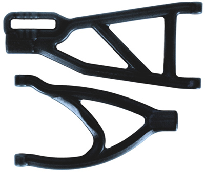 RPM 1/10 Revo Upper & Lower Rear A-arms, Black
