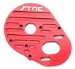 Machined Aluminum Heatsink Motor Plate for SC10, Red