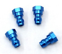 Machined HD Aluminum Upper Shock Mount bushings for SC10, Blue