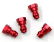 Machined HD Aluminum Upper Shock Mount bushings for SC10, Red