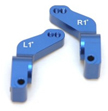 Aluminum 1 Deg. Toe-in Rear Hub Carriers for Traxxas Slash, Stampede VXL, Rustler VXL 2WD Only (Blue)