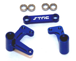 Aluminum Steering Bellcrank Set (w/bearings) for Slash/Rustler/Bandit 2WD Only (blue)