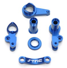 Aluminum Multi-Piece Steering Bellcrank set (blue), Slash 4x4