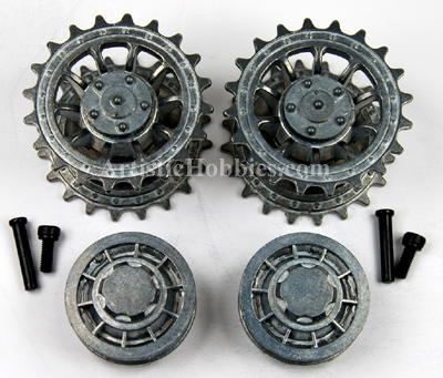 1/16 Taigen Metal Front Drive and Rear Idler Wheels for Tiger I Late