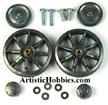 Open Box - Taigen metal 1/16 Rear Idler Wheels for Taigan Panzer III and Sturm III RC tanks