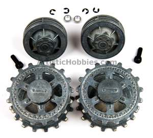 1/16 Taigen Metal Front Drive and Rear Idler Wheels for Panther G & Jagdpanther