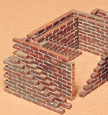 1/35 Brick Wall Model Kit