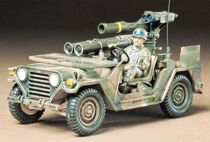 1/35 U.S. M151A2 w/Tow Launcher Jeep Model Kit