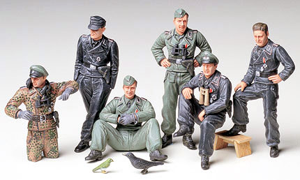 1/35 German Tank Crew at Rest Model Kit