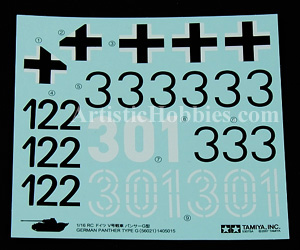 1/16 Decals for German Panther G Tank
