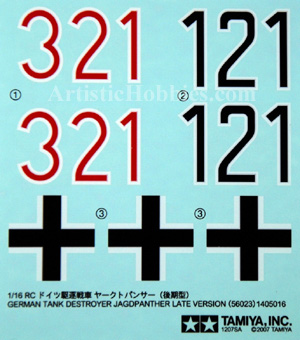 1/16 Decals for German Jagdpanther Tank