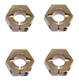 Tekno 12mm Aluminum Hex Adapters for M4 Driveshafts
