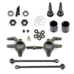 Tekno Front M6 Driveshafts and Steering Blocks for Slash 4x4