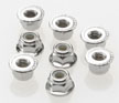 Traxxas 4mm Steel Flanged Serrated Nylon Locking Nuts