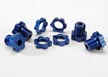 Traxxas 17mm Wheel Hubs and Nuts, Blue